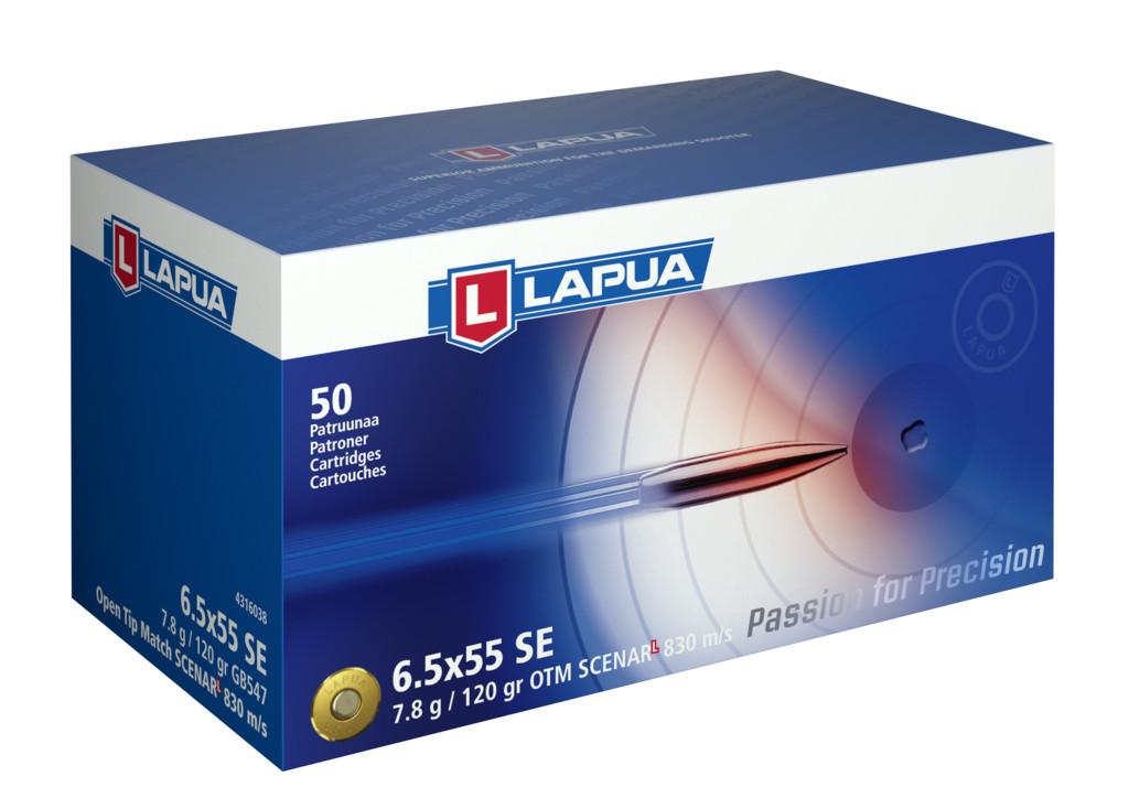 Naboj Lapua 6,5x55 SE GB547 7,8g / 120gr OTM Scenar-L 830m/s