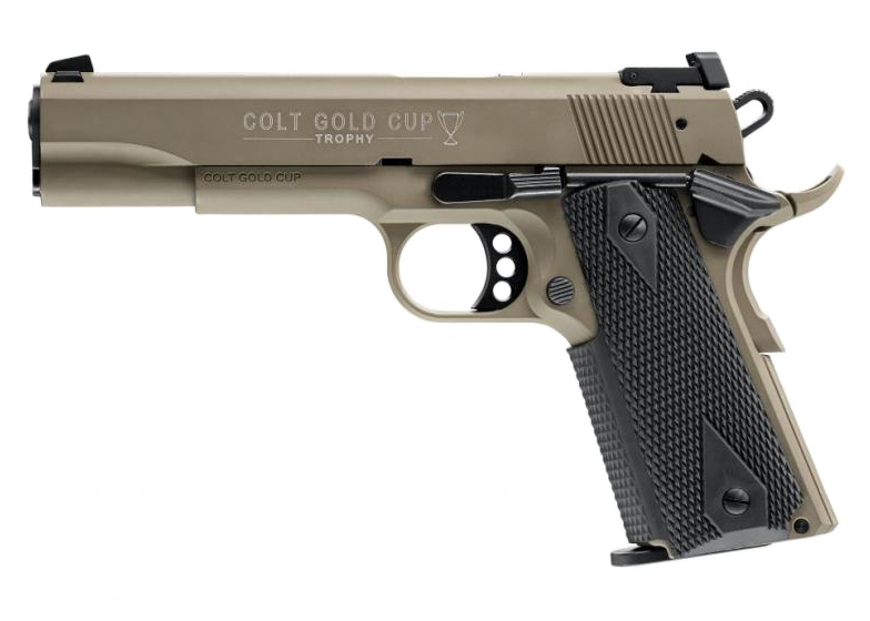 Colt Walther 22 LR Mod. 1911 Gold Cup Brown Tan